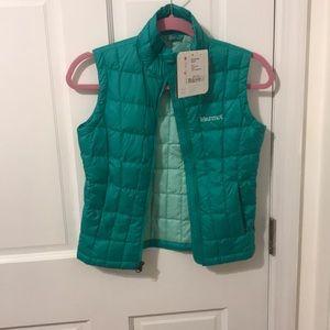 Marmot green girls vest